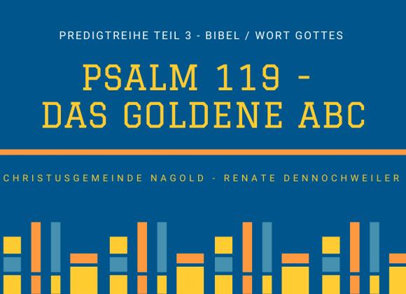 Psalm 119 – das goldene ABC